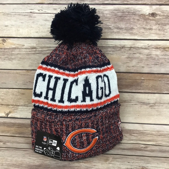... closeout chicago bears nfl beanie cap hat gsh sideline 2018 4915e f2134 c53f834c2